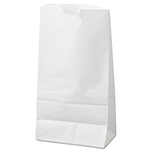WB-10 10 lb WHITE PAPER  BAGS 500/BUNDLE