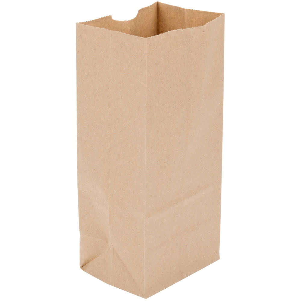 KB-12 12 lb KRAFT PAPER BAGS 500/BUNDLE