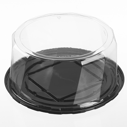 "5F050-PD-C 9"" CAKE TRAY WITH 5"" CLEAR DOME 100/CASE"